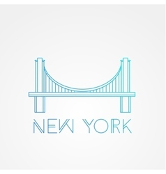 World famous Brooklyn Bridge vector image vector image