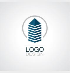 circle building cityscape logo vector image
