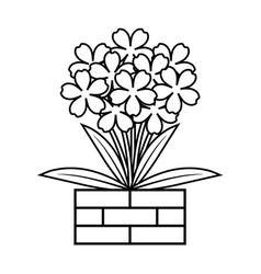coloring book flower vector image vector image