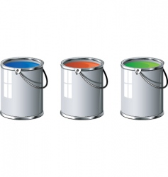paint tins vector image