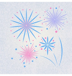 retro holiday firework vector image vector image