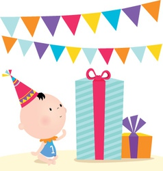 First birthday vector image