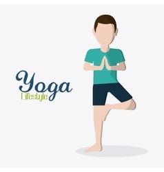 People doing yoga desgin vector
