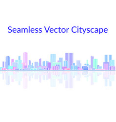 seamless landscape city vector image