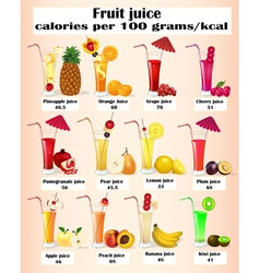 set of fruit juices vector image vector image