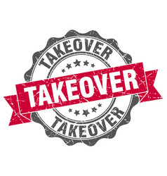 takeover stamp sign seal vector image vector image