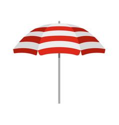 beach umbrella icon flat style vector image