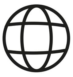earth line icon vector image vector image