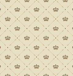 Royal wallpaper seamless pattern with crown and vector image
