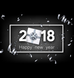 2018 new year background with gift vector