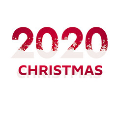 2020 red christmas typography design winter vector image