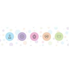 5 original icons vector