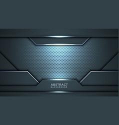 abstract black blue frame sport design concept vector image