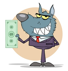 Animal businessman cartoon vector
