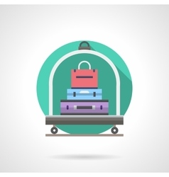 Baggage cart detailed flat color icon vector image