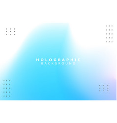 Blue and white holographic abstract background vector