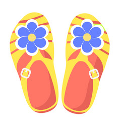 bright comfortable slippers isolated vector image