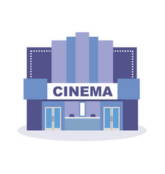 building cinema theater architectural structure vector image