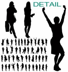 businesswomen silhouettes vector image
