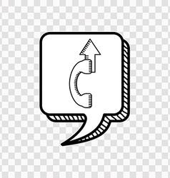 calling icon vector image vector image