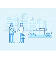Car sharing concept - new model of car rental vector image