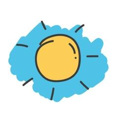 Cartoon doodle sun vector