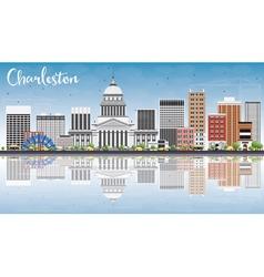 Charleston Skyline with Gray Buildings vector image