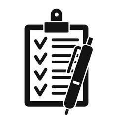 checklist icon simple style vector image