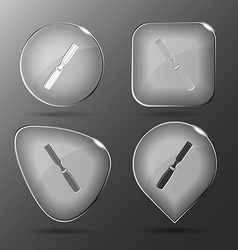 Chisel Glass buttons vector image