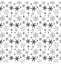 christmas snowflake pattern design background vector image
