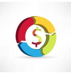 circular arrows icon vector image