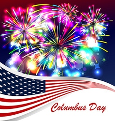Columbus day celebration design vector image