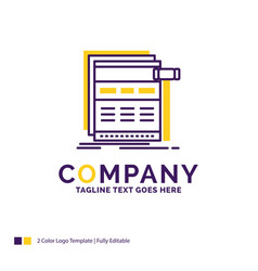 Company name logo design for internet page web vector