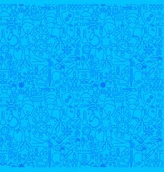coronavirus blue line seamless pattern vector image