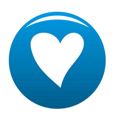 Cruel heart icon blue vector