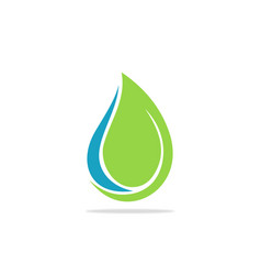 curl eco water drop logo vector image