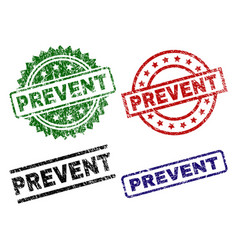 Damaged textured prevent seal stamps vector