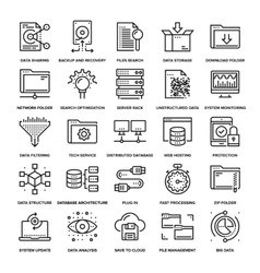 Data Management Icons vector