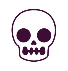 Drawing skull in the style of comics vector
