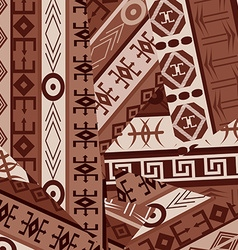 Ethnic ornaments patches background vector image