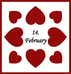 -February vector image