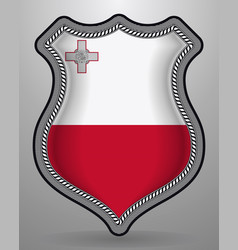 Flag of malta badge and icon vector