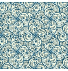 Floral beautiful blue seamless pattern vector image