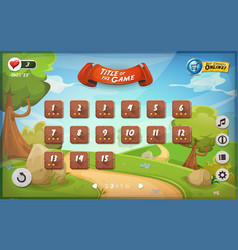 game user interface design for tablet vector image