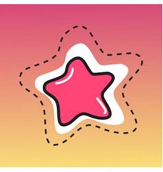 glossy stars vector image