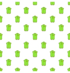 Green baseball jacket pattern cartoon style vector