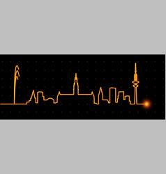 hamburg light streak skyline vector image