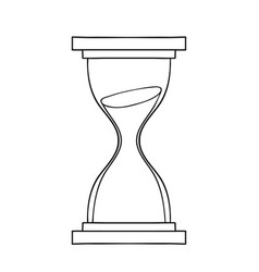 hourglass icon hand drawn doodle cartoon vector image