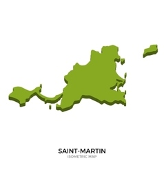 Isometric map saint-martin detailed vector