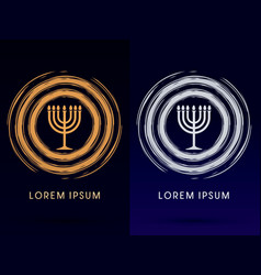 menorah israel candle vector image